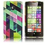 thematys Passend für Microsoft Lumia 532 Silikon-Hülle Bunt Kariert weiche Tasche Cover Case Bumper Etui Flip Smartphone Handy Backcover