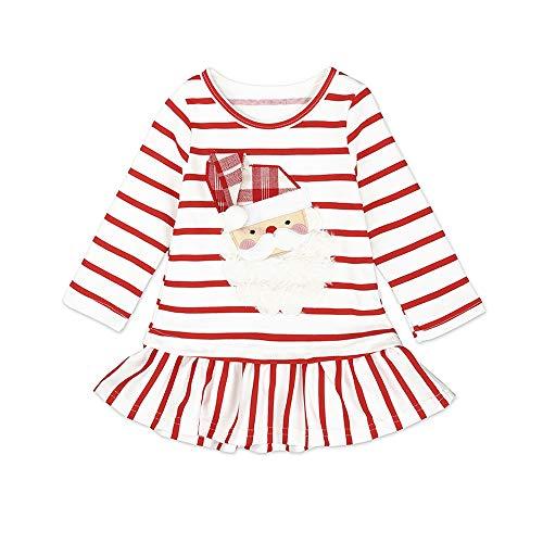 Gyratedream Mädchen Kleid Baby Lange Hülsen Beiläufige Lose T-Shirt Kleider Christmas Halloween Kostüme für Kinder Crewneck Printed Dresses Alter 1-5 Jahre