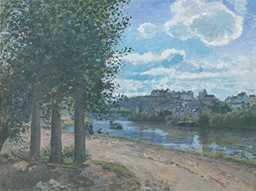 Spiffing Prints Camille Pissarro - Road by River - Large - Matte Print River Road Matte