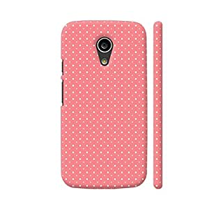 Colorpur Moto G2 Cover - Polka Dots Pattern On Pink Case