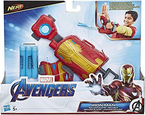 Marvel Avengers Iron Man Repulsor-Blaster Handschuh mit 3 Nerf Darts für Rollenspiele, Für Kinder ab 5 Jahren