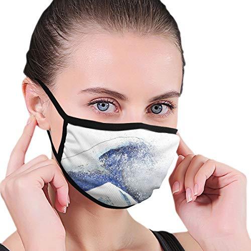 Máscara bucal, máscara japonesa Great Wave Art Unisex Mascarilla antipolvo