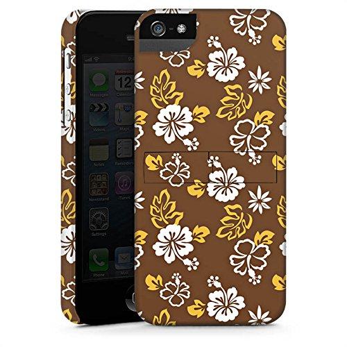 Apple iPhone X Silikon Hülle Case Schutzhülle Blumen Flower Braun Premium Case StandUp