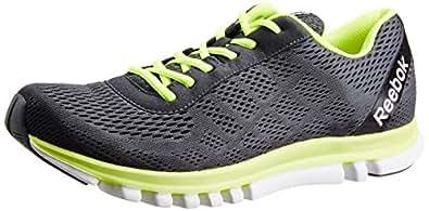 Reebok Men's Reebok Sublite Duo Smooth Grey, Lime Green and White Mesh Running Shoes - 11 UK
