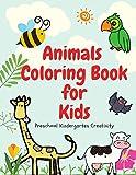 Animals Coloring Book for Kids Preschool Kindergarten Creativity: ABC English Education Learning Skills Toddlers Childhood Children Age 3-8, 8.5'x11' Paperback Workbook