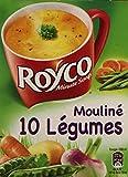 Royco Minute Soup Soupe Déshydratée Mouliné 10 Légumes 4 Sachets de 20 cl - 64,4 g