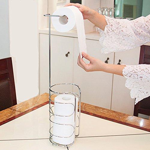 Frei stehende edelstahl toilettenpapierhalter,Küche badezimmer hotel papier rack kreative einfache mobilität papierrollenhalter-D 16x16x66cm(6x6x26inch) (Box Stehende Frei)