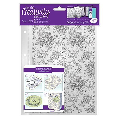 Kreativität Essentials Floral Hintergrund Stempel, transparent, A5 (Stock Clear Stamp)