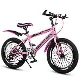Kinder Geschwindigkeit Mountainbike 20/22 Zoll Scheibenbremse Fahrrad 7-8-9-10-12-15 Jahre alt Grundschule Fahrrad ( Farbe : Pink , größe : 22 inches )