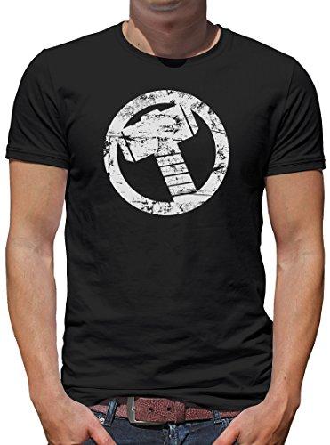 TLM Thor Hammer T-Shirt Herren L (Tv Flash Kostüm Serie)