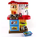 (KC2) deAO - Cooking Sounds Kitchen Set for Kids Role Play Game