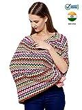 #6: Feather Hug 360° Nursing Cover for Breastfeeding mother, women, Mom, Multi Use, Feeding Cloak,Poncho, scarf, ups, Wrap, Breathable, Canopy, Babysitting, Maternity, Kurti, Shawl, Apron, Poplin (Rainbow ZigZag Print)