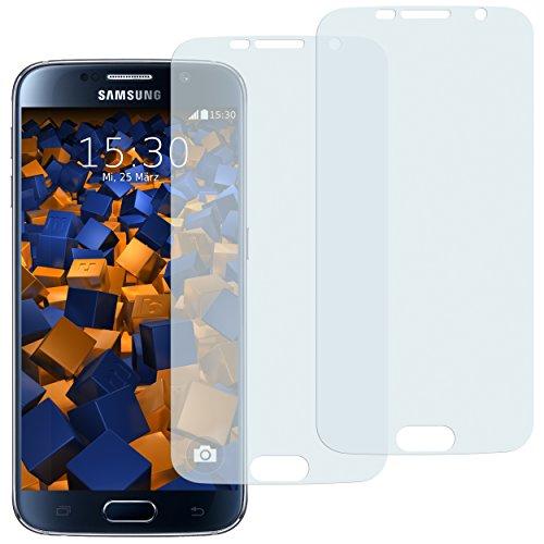 2 x mumbi Displayschutzfolie Samsung Galaxy S6 / S6 Duos Schutzfolie (bewusst kleiner als das Display, da dieses gewölbt ist)