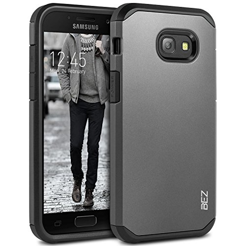 Samsung Galaxy A5 2017 Hülle, BEZ® Stoßfestes Etui, [Heavy Duty Serie] Outdoor Dual Layer Armor Case Handy Schutzhülle [Shockproof] robuste Hülle für Samsung Galaxy A5 2017 - Silber