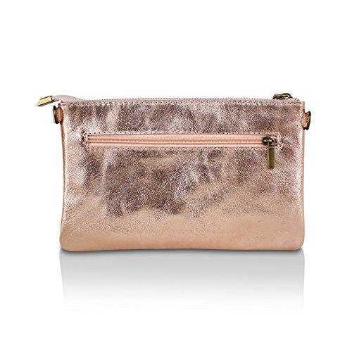Glamexx24 Borsa vera Palle da Donna a mano , Casual Borsetta a tracolla, elegante Clutch Made in Italy 1.009 1.009.6 Rosa