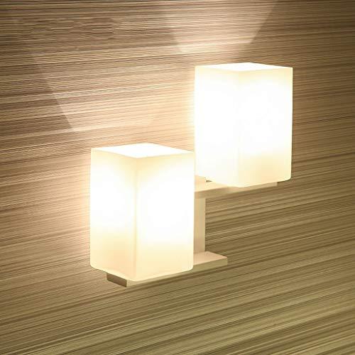 Wandleuchte LED modernes Schlafzimmer Nachttischlampe kreative Leselampen Treppen Gang Lights Hotel arbeitet Lampen (Farbe: weiß)