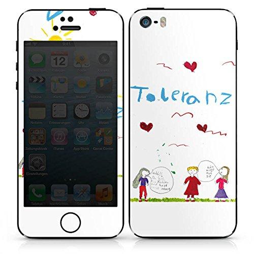 Apple iPhone 4s Case Skin Sticker aus Vinyl-Folie Aufkleber Kinder Zeichnung Fina DesignSkins® glänzend