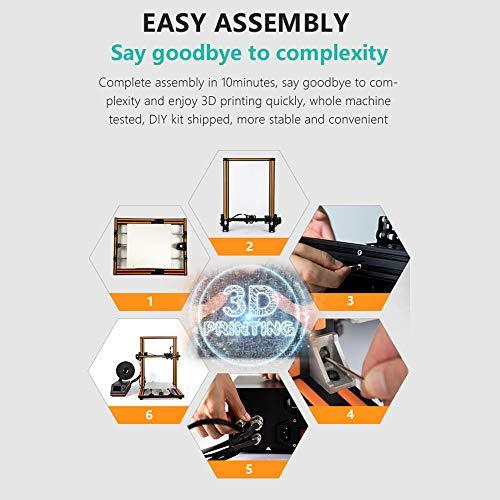 Aibecy Anet E16 DIY 3D-Drucker Hochpräzise Selbstmontage 300 * 300 * 400mm Große Druckgröße Aluminiumlegierung Rahmen LCD Display Auto Faden Fütterung - 6