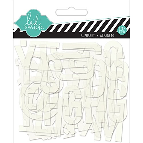 Heidi Swapp Clear Pop White Alphabet - Heidi Swapp-alphabet