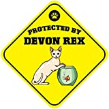 Wennuna protetto da Devon Rex Cat metal aluminum novelty Sign 30,5x 30,5cm
