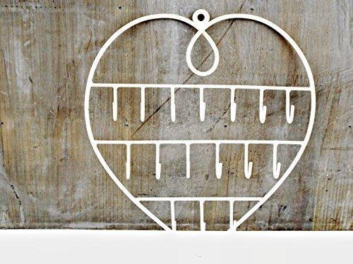Joyero-con-espejo-interior-con-llave-soporte-de-ganchos-para-la-pared-percha-collares-pulseras-chicas-blancas