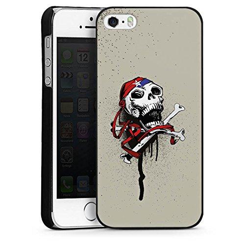 Apple iPhone 6 Housse Étui Silicone Coque Protection Pirate Mort Tête de mort CasDur noir