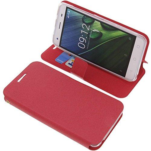 foto-kontor Tasche für Acer Liquid Z6E Book Style rot Schutz Hülle Buch