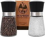 Wamber Premium Salt and Pepper Grinders - Set of 2