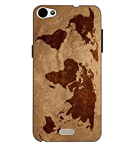 Case Cover Map Printed Multicolor Soft Back Cover For LYF WATER 11