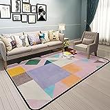 Weiches Bereichswolldecke Wohnzimmer,Europäischer teppich teppich rechteck footcloth einfache unregelmäßige design für wohnzimmer bett-E 39*59inch(100*150cm)