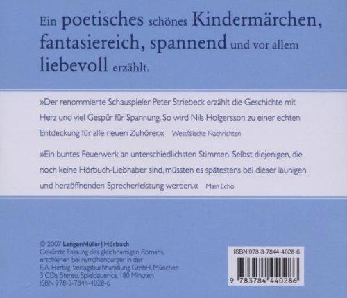 Wunderbare Reise des kleinen Nils Holgersson mit den Wildgänsen. 3 CDs. (Audio Books): Alle Infos bei Amazon