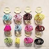 Pixnor Ragazza donne 50pcs assortiti elastico coda di cavallo titolari capelli cravatta assortito elastici accessori misto colore della corda