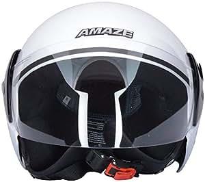 Ergo Open Face Helmets (Clear) (White, Large)