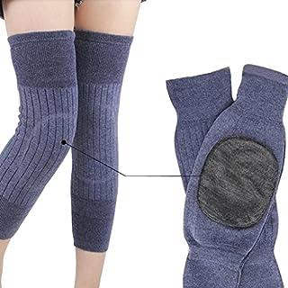 Afinder Damen Herren Knieschoner Elastische Kniebandage Verdicken Verlängern Atmungsaktive Beinlinge Beinwärmer Kniewärmer Knieschützer Winter Wollen