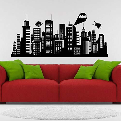 Große Größe 132x41 zoll Batman Gotham City Wandtattoo Comics Vinyl Aufkleber Kinderzimmer Home Art Decor 132x41 cm
