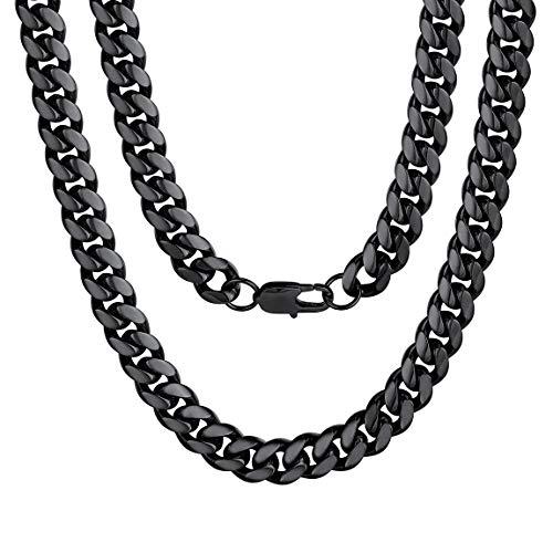 """ChainsPro Edelstahl Herren Kette Rolo Ketten Panzerkette Klassische Herrenschmuck Halskette 14\""""/18\""""/20\""""/22\""""/24\""""/26\""""/28\""""/30\"""" Lang (10mm Breit, 3 Farbe wählbar)"""