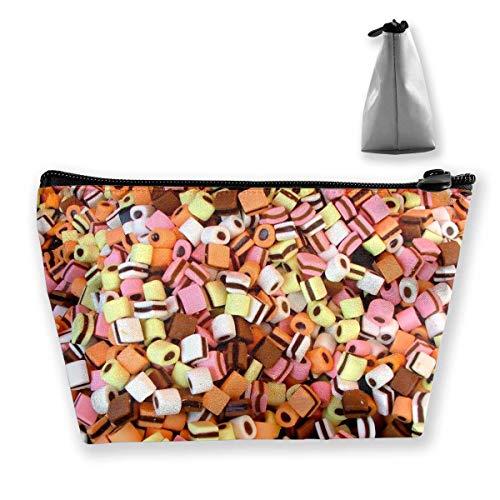 Trapez Reise Make-up Taschen Kulturbeutel Tragbare Stiftetui Fall Candy Zipper Wallet (Candy Wallet)