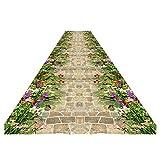 ZEMIN 3D Tapis de Couloir Passage Chemin Bordé D'arbres Naturel Frais Moquettes Sale Antidérapant, 2 Couleurs, Multi-taille Personnalisée (Couleur : A, taille : 0.6x3m)