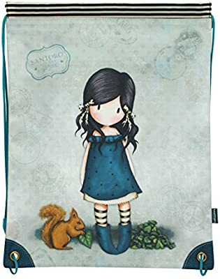 Mochila saco Gorjuss Azul 34x45cm You Brought Me Love