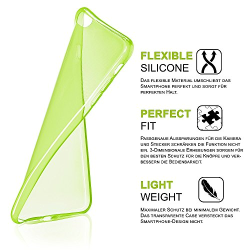 iPhone 6S Plus Hülle Silikon Transparent Grau [OneFlow Clear Back-Cover] TPU Schutzhülle Dünn Handyhülle für iPhone 6 Plus / 6S + Plus Case Ultra-Slim Silikonhülle Rückseite LIME-GREEN