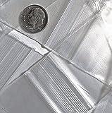 PLASTIC ZIPLOCK BAGGIES Plastica Ziplock Baggies 200–4,4x 4,4cm trasparente 2mil
