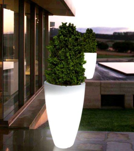 2x point-garden Blumentopf Blumenkübel Pflanzkübel beleuchtet – Designer Leuchte – Höhe 90 cm - 3
