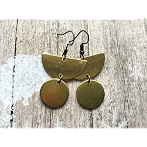 FREE SHIPPING! Scandinavian raw brass earrings, Selma Dreams jewellery gifts for her