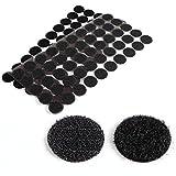 CLE DE TOUS - Puntos Adhesivos para pegar coser Tejidos Cortinas Manteles Cierres Bolso guantes Cremalleras Botones Manualidades (Negro 50 pares)