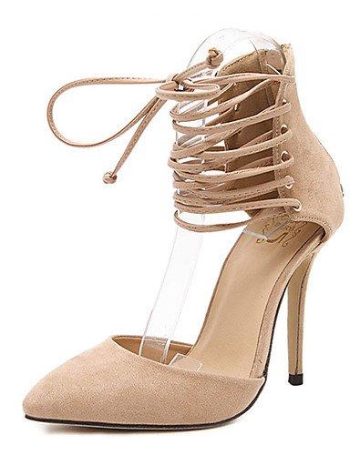 WSS 2016 Chaussures Femme-Décontracté-Noir / Amande-Talon Aiguille-Talons-Talons-Laine synthétique almond-us6 / eu36 / uk4 / cn36