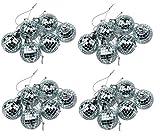 Pallina per albero di Natale a forma di disco ball con superficie a specchio 24 Mirror Baubles