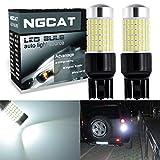 NGCAT LED-Leuchtmittel, besonders helle LED-Glühbirne mit Linsenprojektion, 12 V - 24 V, 1500 Lumen, SMD-3014-Chipsatz mit 144 LEDs, Sockeltyp 7443, als KFZ-Leuchtmittel für PKW, als Blinker, Rückfahrlicht, Rücklicht, Xenon-Weiß, 2 Stück