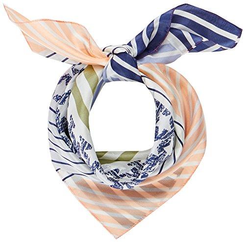 Codello Damen Schal 81022701, Blau (Navy Blue 2), One size (Herstellergröße: EG) (Diagonal-streifen-schal)