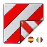 Warntafel Italien und Spanien Aluminium mit Ösen 50 x 50 cm reflektierend in rot/weiß