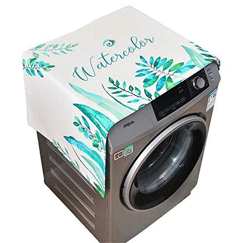 Preisvergleich Produktbild YAzNdom Waschmaschinendeckel wasserdichte Kühlschrank Hause Gefrierschrank Top Tasche Kühlschrank Aufbewahrungstasche Geeignet für die meisten Top- oder Frontlader-Waschtrockner (Farbe : Grün)